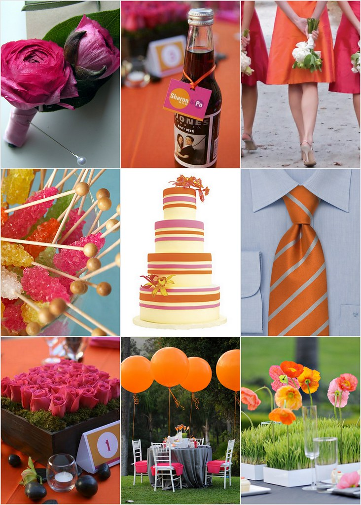 pink orange and lime