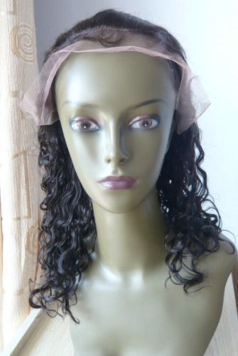 curly 12inch color 1b front by gracewigs.
