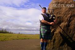 Bagpiper... (The Hitchhiker's Guide) Tags: scotland bagpipes bagpiper englandscotlandborder