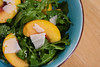 Thumbnail image for arugula and peach salad with honeyed vinaigrette