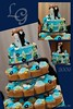 Marissa and Graeme Wedding Cupcakes Tower (Klaire with a Cake) Tags: blue wedding tower cake garden cupcakes little cupcake midnight graeme marissa tlc cupcakery xirj klairescupcakes