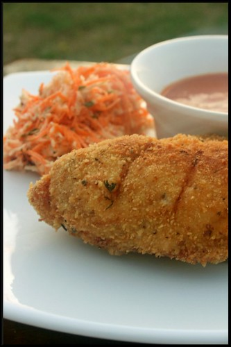 3935304908 27105d187b Southern Fried chicken, sauce ketchup maison et coleslaw