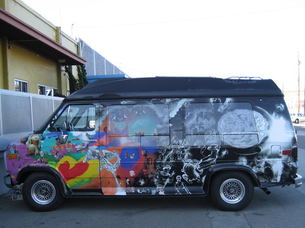Photo of a painted van in San Francisco