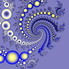 Blue Galaxy (Heaven`s Gate (John)) Tags: fractal bluegalaxy blue galaxy effect colour color multicolour multicolor photoshop globes circles ball dramatic creative vivid imagination johndalkin heavensgatejohn yellow black psychedelic abstract squaredcircle