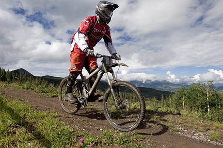 Geared up for a day of extreme mountain biking in Telluride