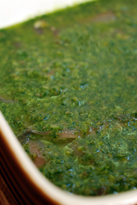 fresh anchovies in salsa verde© by Haalo