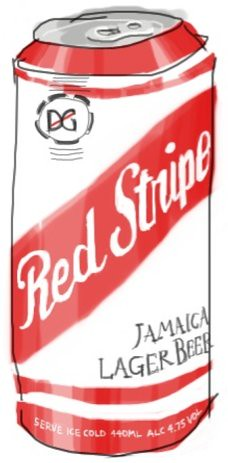object 9: Red Stripe Lager Beer