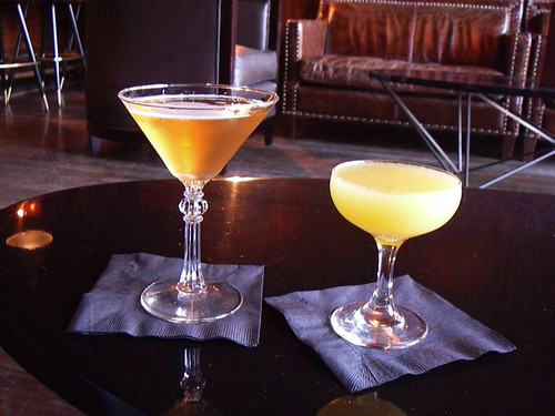 Debonair and Monkey Gland specialty cocktails