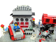 The periodical service (crises_crs) Tags: robot lego space storage workshop vehicle service gantrycrane lugpol