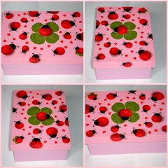 Caixinha Joaninha (Pixaim - Sandra Kelli) Tags: artesanato corderosa caixinha joaninhas portatreco decoupagem pinturaemmadeira minitrocas