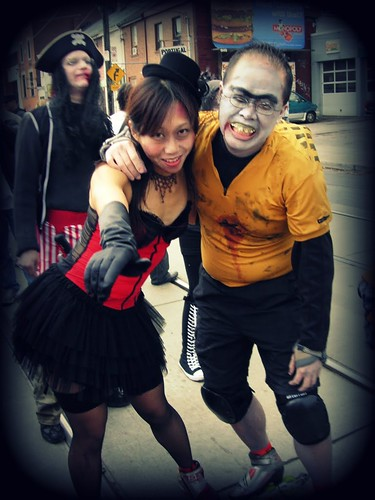 Can Can Zombie & Hunchback Skater Zombie