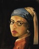 Girl with Pearl Earring: Modern (laurenonice) Tags: portrait me scarf glasses earring vermeer girlwithpearlearring pearlearring