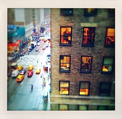 Overlooking the Avenue (street level) Tags: city nyc newyorkcity urban newyork building architecture manhattan gothamist 7thavenue iphone