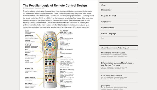 The Peculiar Logic of Remote Control Design   Blog   design mind_1257453214977