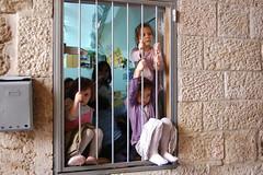old city, jerusalem (GoniKM) Tags: old city girls window purple little jerusalem jewish