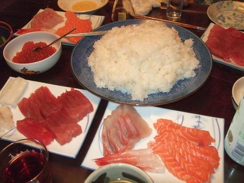 ムスメの誕生日お祝い手巻き寿司