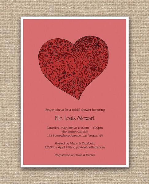 True Love Bridal Shower Invitation Design - DIY Printables