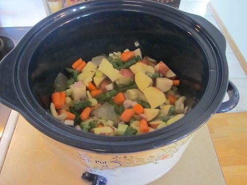 Vegetables in the crock pot