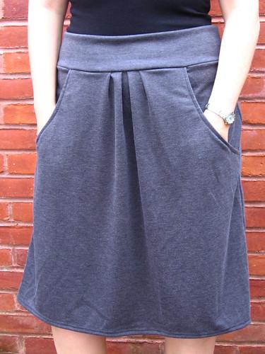 Pleated Pocket Skirt