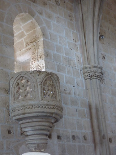 Bellapais Abbey, cloister - refectory interior, reading pulpit