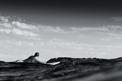 Surfer watching the wave roll in (keiranq) Tags: surfer surf wave surfing beach ocean sea maroubra