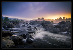 First Light on the Potomac (Joseph Rossbach(www.josephrossbach.com)) Tags: light storm horizontal sunrise virginia nationalpark greatfalls dramatic potomacriver specland the4elements photocontesttnc09