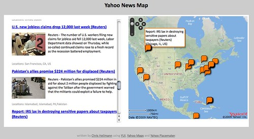 Yahoo News Map by  you.