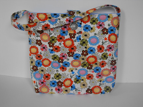 Flower Slouch Hobo Bag
