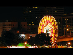 Portland Rose Festival Waterfront Village Ferris Wheel (David Gn Photography) Tags: park oregon portland waterfront fireworks ferriswheel funfair willametteriver portlandrosefestival cityofroses waterfrontvillage canonpowershotsx1is