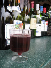 glass of wine from france