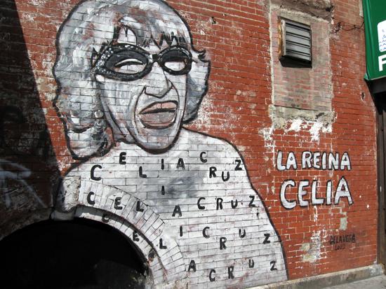 De La Vega Mural - La Reina Celia (Click to enlarge)