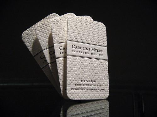 Textured Letterpress Business Cards - Caroline Myers