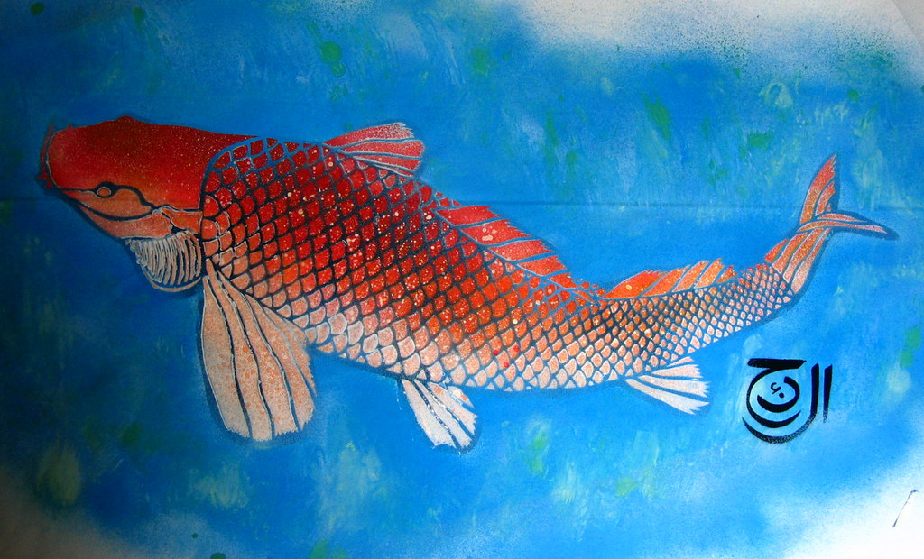 The world 39 s best photos of carp and paper flickr hive mind for Blue and orange koi fish