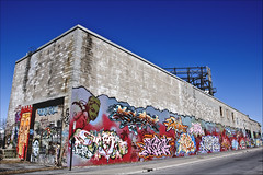 Rue Cabot - Mars 2009 ( CHRISTIAN ) Tags: street city blue sky urban streetart building art colors wall graffiti industrial montral couleurs bleu explore ciel rue difice mur ville urbain industriel arturbain mtlguessed gwim bestofr