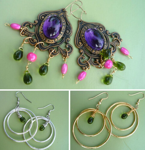handmade earrings.