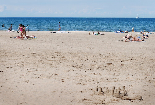 Look, a real beach!