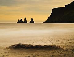Vik; Iceland (Corica) Tags: sea seascape beach landscape iceland nikon rocks vik d300 corica reynisdrangur iceland2009