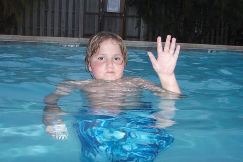 Jamie in pool