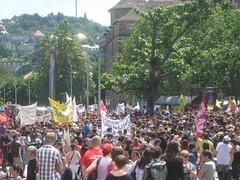 Demo: Schlossplatz voll