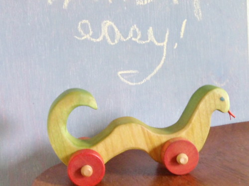Snakes Need Wheels - Snake Push Toy