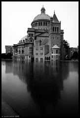 Christian Science Church, b&w (Justin Smith - Photography) Tags: longexposure blackandwhite nikond50 justinsmith christiansciencechurch nikon1735mmf28 bm062609