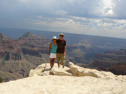 mike and I at the north rim of the grand canyon