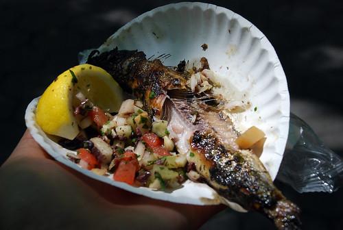 grilled sardine from Bistro 61 @ Bastille Day festival...