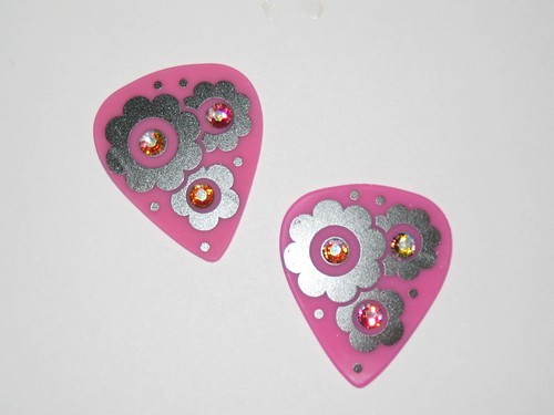 Guitar picks w/ Swarovski Hot-Fix Crystals