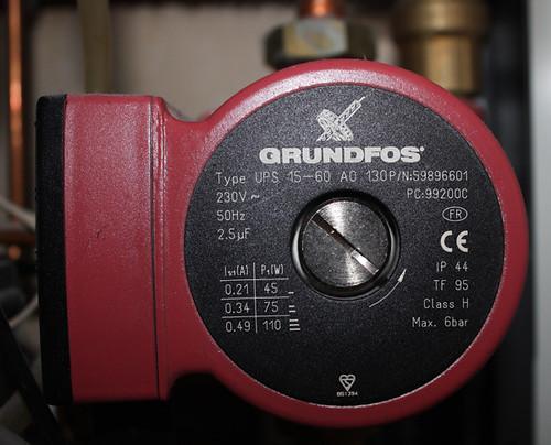 My combi boiler/combination boiler hot water pump
