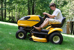 13/365 (Orttenburger_J) Tags: trees summer tractor hot grass turn cub warm day boots shed lawn sunny heat mower stress job zero angst mowing cadet i1042