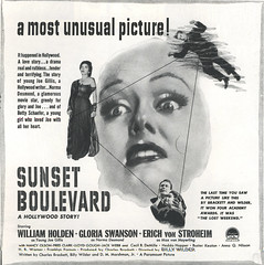 Sunset Boulevard (felixtcat) Tags: advertising ad sunsetboulevard paramountstudios busterkeaton advetisement billywilder jackwebb williamholden ericvonstroheim nancyolson heddahopper hbwarner annaqnilsson fredclark classicmoviead sunsetboulevardmoviead glotiaswanson lloydgough ceclibdemille