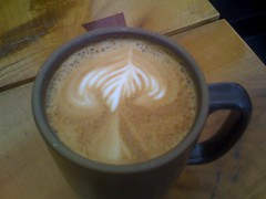 Latte in Mission Beach Cafe