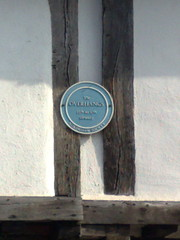 Photo of Overhangs blue plaque
