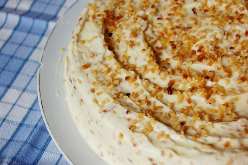 hazelnut white chocolate cake